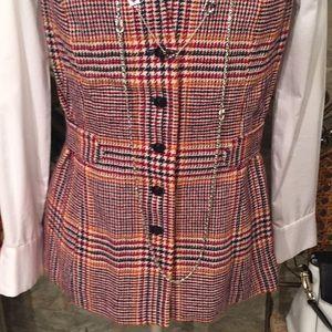 Pendleton 🌹 stunning  belted plaid vest